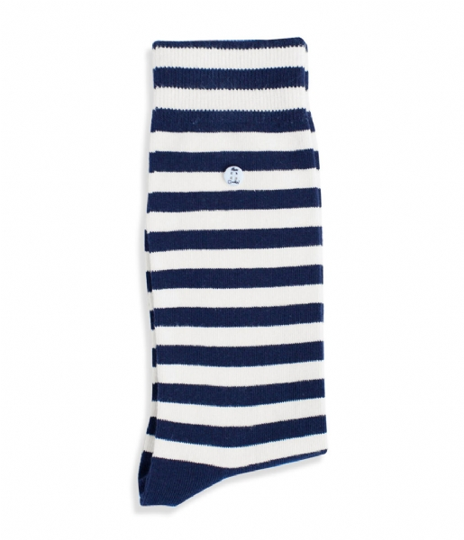 Alfredo Gonzales Sokken Harbour Stripes Off white navy (133)