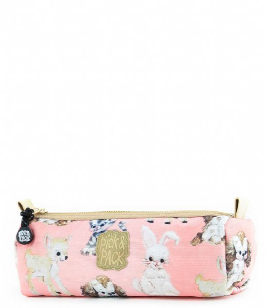 Pick & Pack Etui Cute Animals Penncase soft Coral (48)