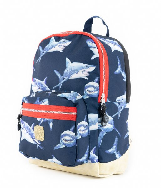 Pick & Pack School rugzak Shark Backpack M 13 Inch Navy (14)