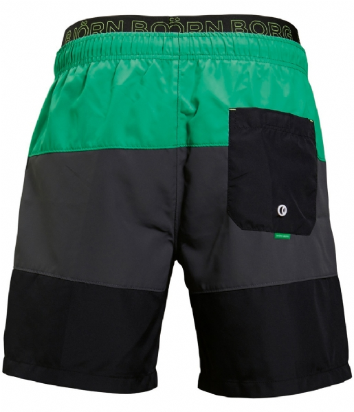 Borg Zwembroek.Zwembroek Loose Colourblock Bright Green 85111 Bjorn Borg The