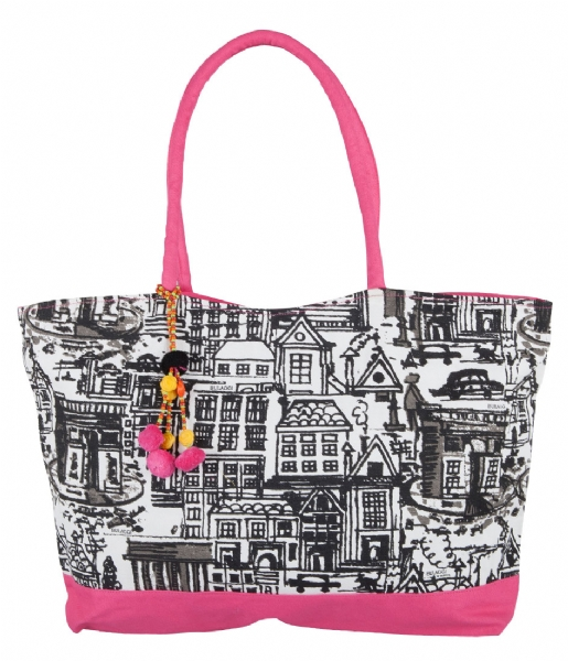 Paris houses shopper roze bulaggi the little green bag - Little green paris ...