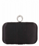Bulaggi Clutches Satin Ring Closure Box Zwart