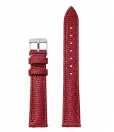 CLUSE Minuit Strap Deep Red Lizard deep red lizard silver colored (CLS381)