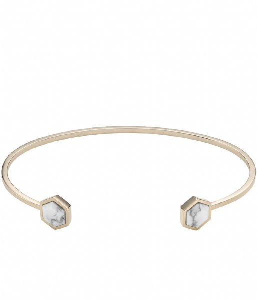 CLUSE Armband Idylle Hexagons Open Cuff Bracelet gold plated marble (CLJ11003)
