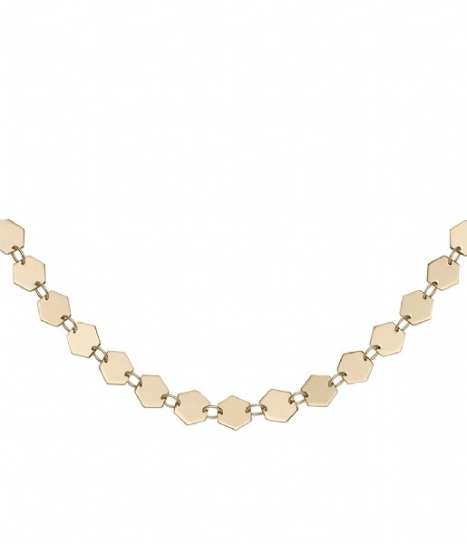 CLUSE Ketting Essentiele All Hexagons Choker Necklace gold plated (CLJ21003)