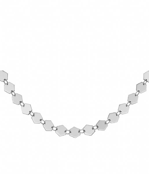 CLUSE Ketting Essentiele All Hexagons Choker Necklace silver color (CLJ22003)
