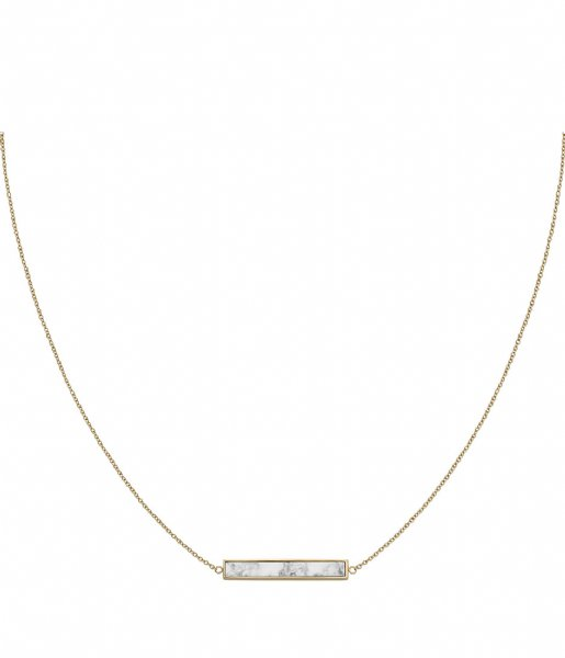 CLUSE Ketting Idylle Marble Bar Necklace gold plated (CLJ21009)