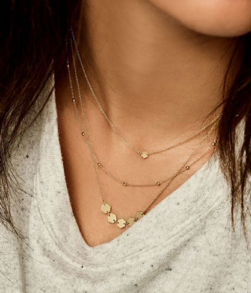 CLUSE Ketting Essentiele Hexagons Necklace gold plated (CLJ21001)
