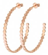 CLUSE Essentiele All Hexagons Hoop Earrings rose gold plated (CLJ50008)