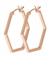 CLUSE Essentiele Hexagonal Hoop Earrings rose gold color (CLJ50004)