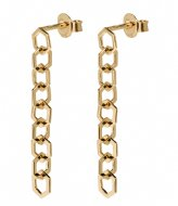 CLUSE Essentiele Open Hexagons Chain Earrings gold plated (CLJ51009)