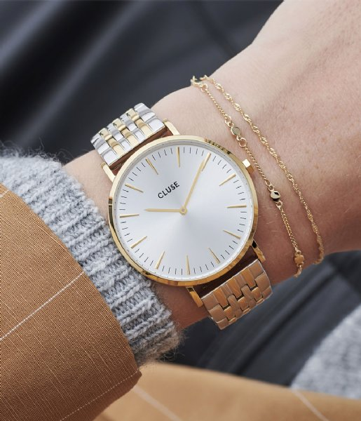 CLUSE Horloge Boho Chic Multi Link Gold Plated gold plated silver colored (CW0101201025)