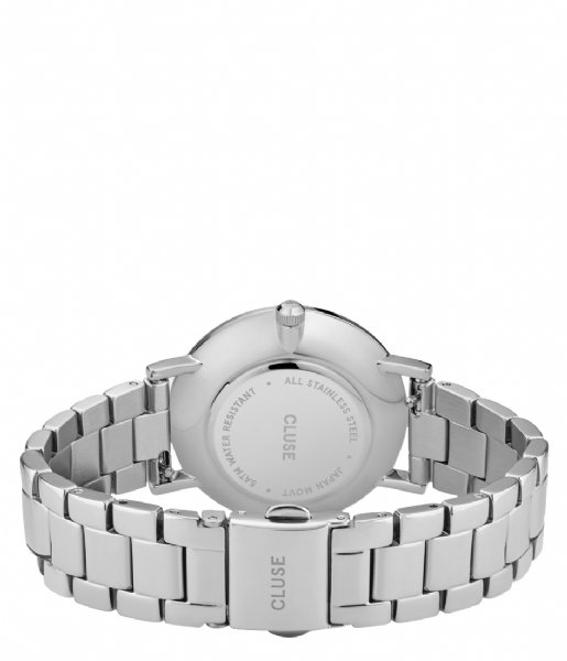 CLUSE Horloge Le Couronnement Three Link Silver Colored winter white silver colored (CW0101209008)