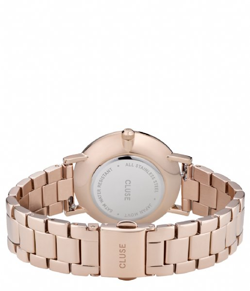 CLUSE Horloge Le Couronnement Three Link Rose Gold Plated winter white rose gold plated (CW0101209009)