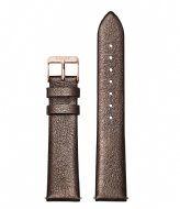 CLUSE Strap Leather 18 mm Rose Gold Colored chocolate brown metallic (CS1408101058)
