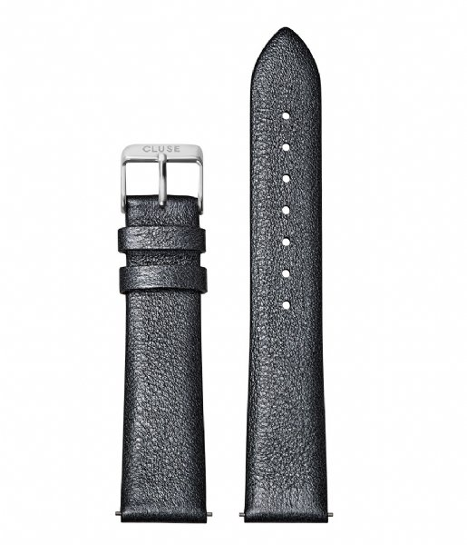 CLUSE Horlogebandje Strap Silver Colored 18 mm dark grey metallic (CS1408101059)