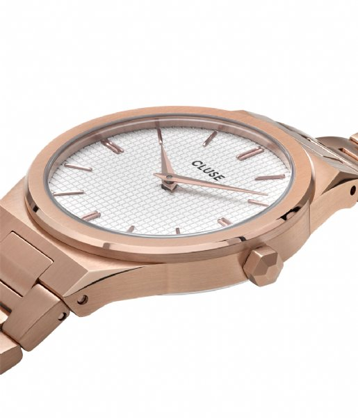 CLUSE Horloge Vigoureux 33 H Link Rose Gold Colored snow white rose gold plated (CW0101210001)