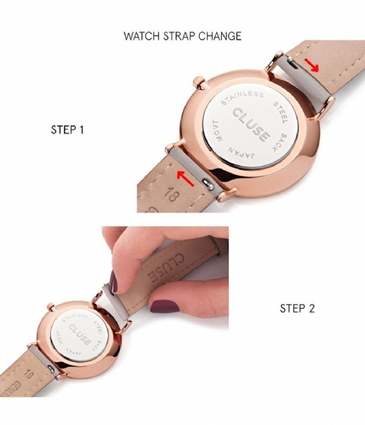 CLUSE Horloge La Vedette Rose Gold Colored White white black (50008)