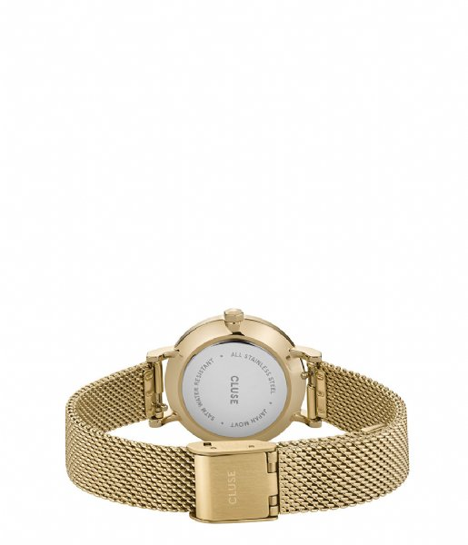 CLUSE Horloge La Boheme Petite Mesh Gold White gold colored