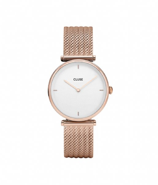 CLUSE Horloge Triomphe Mesh Rose Gold Plated Gift Box rose gold white & star (CG0108208001)