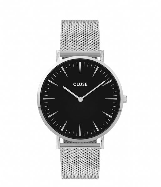 CLUSE Horloge La Boheme Mesh Silver Colored Black black silver colored (CW0101201004)