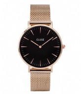 CLUSE La Boheme Mesh Rose Gold Plated Black rose gold plated black rose gold (CW0101201003)