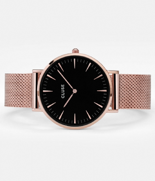 CLUSE Horloge Boho Chic Mesh Rose Gold Plated Black rose gold plated black rose gold (CW0101201003)