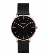 CLUSE La Boheme Mesh Rose Gold Plated Black rose gold plated black black (CW0101201010)