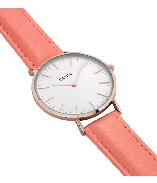 CLUSE Horloge La Boheme Rose Gold Colored White white flamingo (18032)