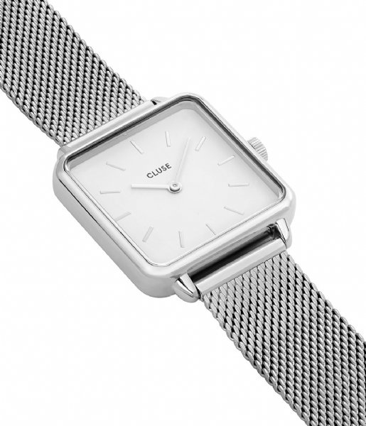CLUSE Horloge La Tetragone Mesh Silver Colored mesh silver colored white (CL60001)