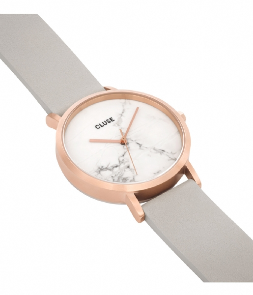 CLUSE Horloge La Roche Rose Gold White Marble white marble grey (CL40005)