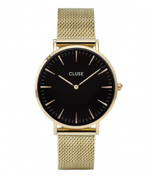 CLUSE Horloge Boho Chic Mesh Gold Plated Black black gold plated (CW0101201014)