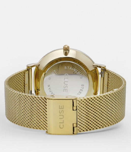 CLUSE Horloge Boho Chic Mesh Gold Plated White white gold plated (CW0101201009)