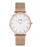 CLUSE La Boheme Mesh Rose Gold Plated White rose gold plated (CW0101201001)