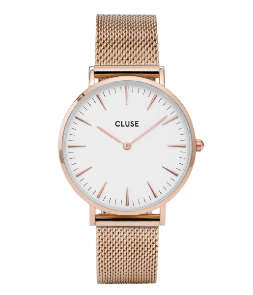 CLUSE Horloge Boho Chic Mesh Rose Gold Plated White rose gold plated (CW0101201001)