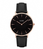 CLUSE La Boheme Leather Rose Gold Plated Black rose gold plated black black (CW0101201011)
