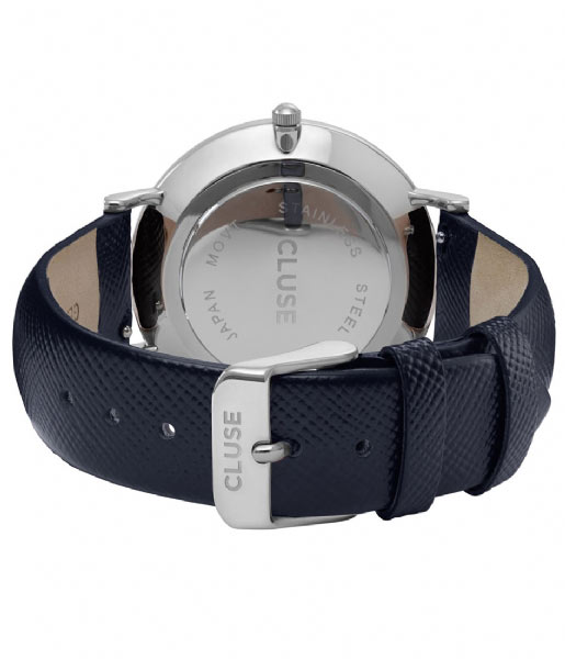 CLUSE Horloge La Boheme Silver Colored White white midnight blue (CL18232)