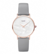 CLUSE Minuit La Perle Rose Gold Plated White Pearl white pearl stone grey (CL30049)