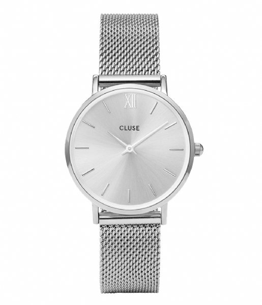 CLUSE Horloge Minuit Mesh Silver Colored silver colored (CW0101203011)