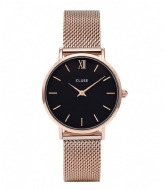 CLUSE Minuit Mesh Rose Gold Plated Black rose gold plated black rose gold (CW0101203003)