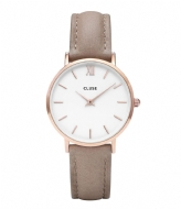 CLUSE Minuit Leather Rose Gold Plated White rose gold plated white hazelnut (CW0101203014)