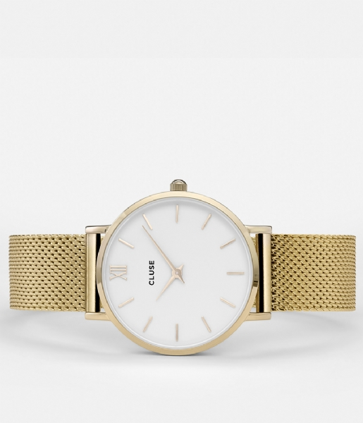 CLUSE Horloge Minuit Mesh Gold Plated White white gold plated (CW0101203007)