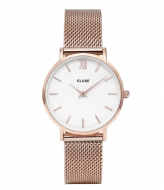 CLUSE Minuit Mesh Rose Gold Plated White white rose gold plated (CW0101203001)