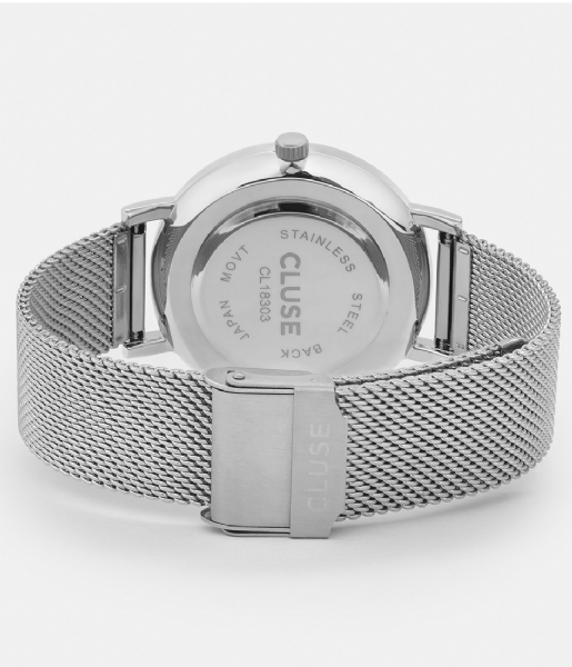 CLUSE Horloge Pavane Mesh Silver Colored White white silver colored (CW0101202001)