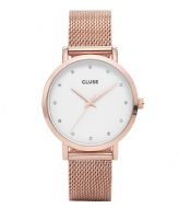 CLUSE Pavane Mesh Rose Gold Plated White rwhite rose gold plated (CW0101202002)