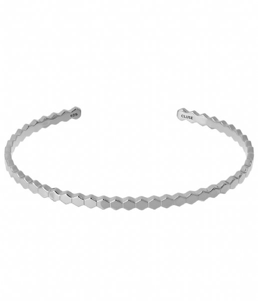 CLUSE Armband Essentielle All Hexagons Bangle Bracelet silver colored (CLJ12017)