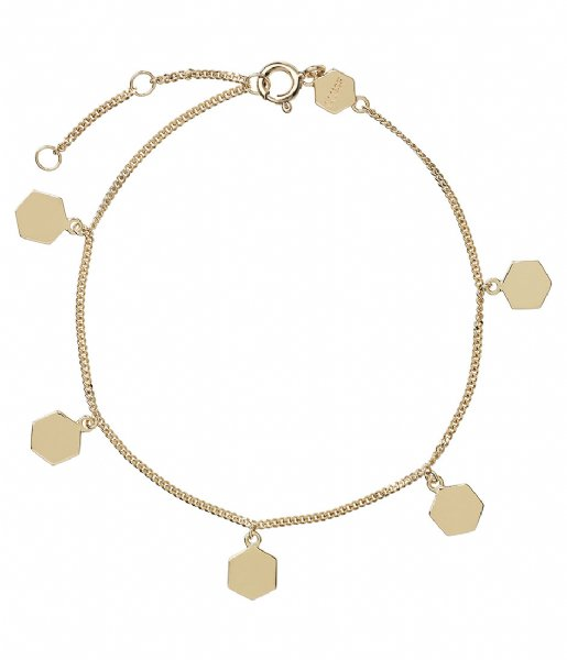 CLUSE Armband Essentielle Hexagon Charms Chain Bracelet gold plated (CLJ11018)