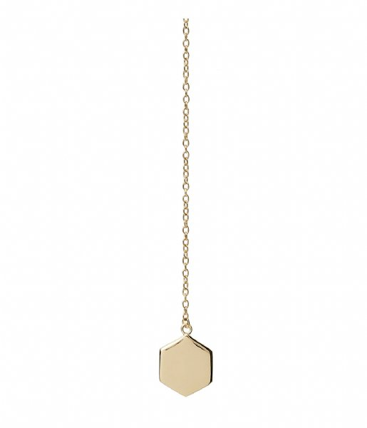 CLUSE Ketting Essentielle Hexagon Charm Lariat Necklace gold plated (CLJ21013)