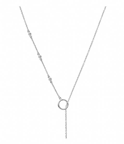 CLUSE Ketting Essentielle Hexagon Charm Lariat Necklace silver plated (CLJ22013)
