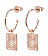 CLUSE Force Tropicale Hoop Tag Pendant Earrings rose gold plated (CLJ50019)